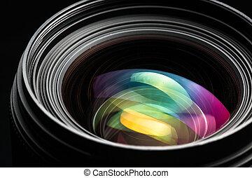 Professional modern DSLR camera llense ow key image - Modern...