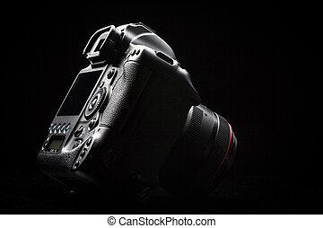 Professional modern DSLR camera