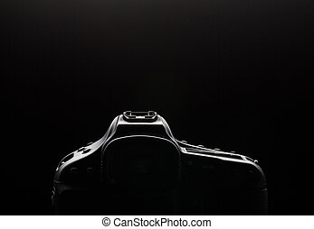 Professional modern DSLR camera low key image - Modern DSLR...