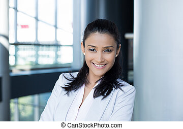 Professional modern woman - Closeup portrait, young...