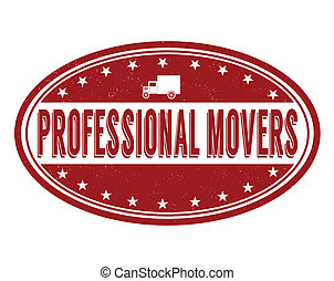 Professional movers stamp - Professional movers grunge ...