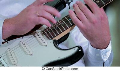 Professional Musician Playing Guitar