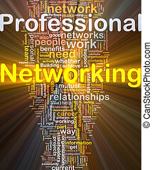 Professional networking background concept glowing -...