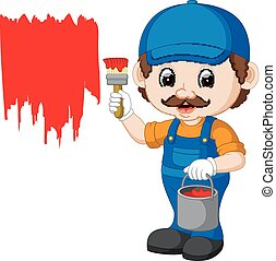 Professional painter cartoon