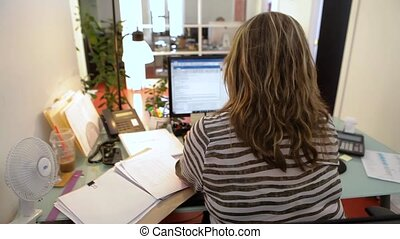 Professional people working in office.
