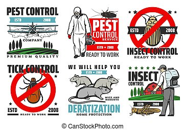 Professional pest control, extermination service