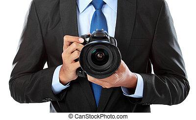 Professional photographer - portrait of professional...