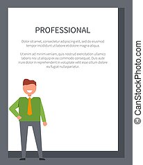 Professional Poster with Businessman in Sweater