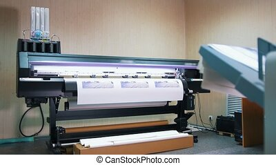 Professional printing press - printing of a color images