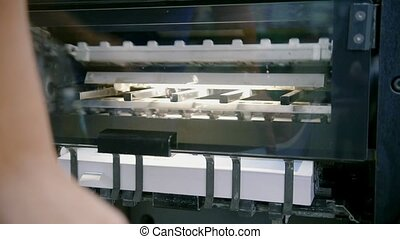 Professional printing press production line in printing...
