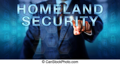 Professional Pushing HOMELAND SECURITY Onscreen -...