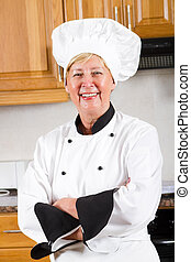 professional senior chef portrait