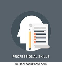 professional skills icon concept