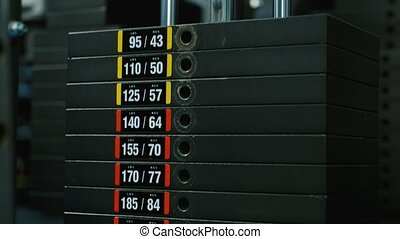 Professional Sport Weights In Gym