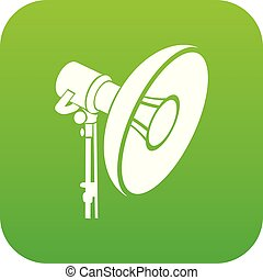 Professional studio light icon green vector