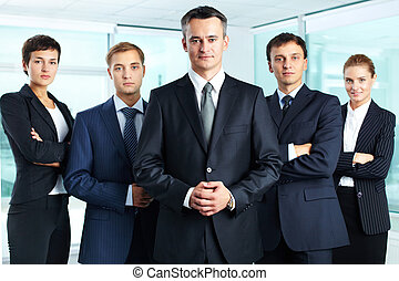 Professional team - Group portrait of a professional...