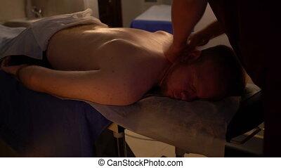 Professional Thai massage male back