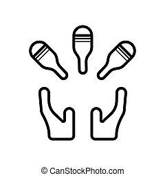 Professional vector circus icon illustration