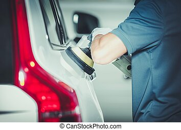 Professional Vehicle Buffing by Caucasian Car Detailing...