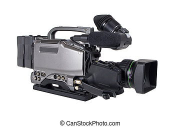 Professional Video Camera isolated