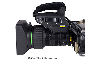 Professional Video Camera lens isol