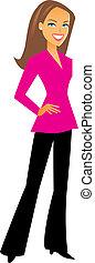 Professional Woman Figure - Woman standing.
