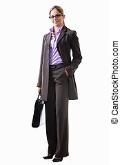 Professional woman - Full body of an attractive blond woman...