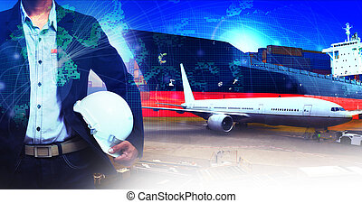 professional working man in air freight