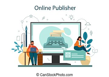 Professional writer or journalist online service or platform