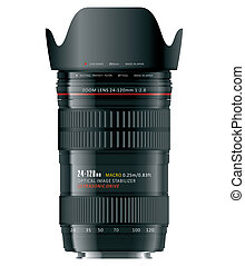 Professional zoom lens - High detailed photorealistic vector...