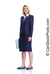 professionale, affari, lady.