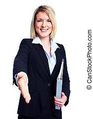professionale, affari, woman.