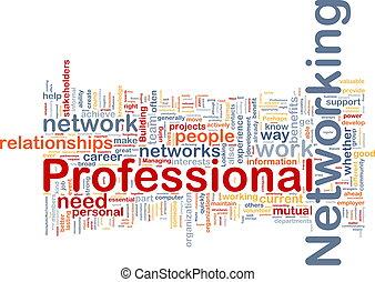 professionale, concetto, networking, fondo