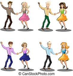 professionale, coppia, ballerino, ballo