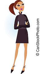 professionale, isolato, donna d'affari