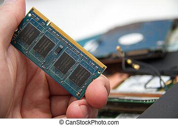 professionale, laptop, riparazione
