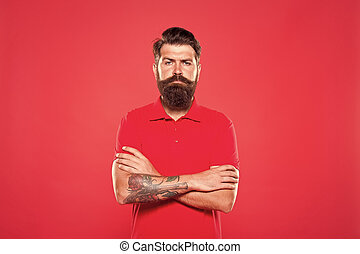 professionale, lavoro, barbuto, stile, maschio, rosso, care., serio, trendy, facciale, maturo, barbiere, bellezza, fashion., hipster, essendo, cashier., uomo, casuale, fondo., look., barba, brutal.