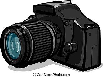professionale, macchina fotografica, foto