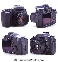 professionale, macchina fotografica, lati, digitale