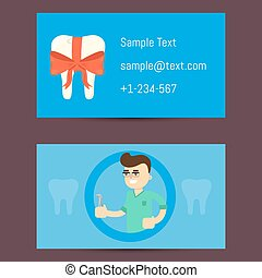 professionale, scheda affari, per, dentisti