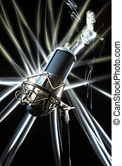 professionale, studio, microphone.