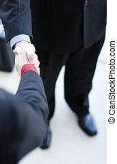 professionals, hånd ryst