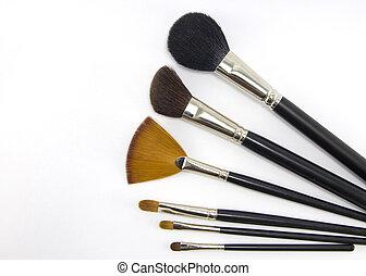 professioneel, brushes., make-up