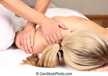 professioneel, masseren