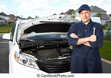 professioneel, mechanic., auto