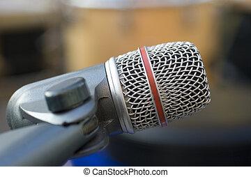 professioneel, microfoon, opname
