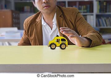 professionel, vogn forsikring, løsning, by, den, bedst, beskyttelse