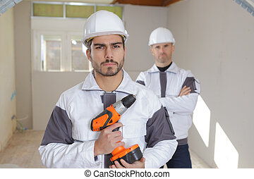 professionell, arbeiter, industrie, gruppe