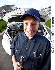 professionell, auto, mechanic.