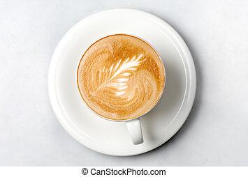 professionell, barista, kaffe kopp
